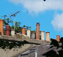 Chimney Pots in Islington by Paulychilds
