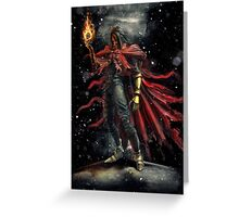 Epic Vincent Valentine Portrait Greeting Card