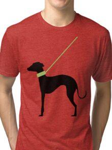 Italian Greyhound Silhouette Tri-blend T-Shirt