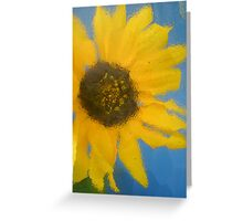 Sunflower Distortion Greeting Card