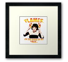 Clue Mrs White Flames Framed Print