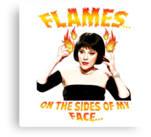 Clue Mrs White Flames Canvas Print