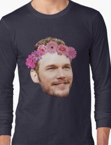 Chris Pratt Flower Crown Long Sleeve T-Shirt