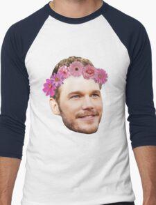 Chris Pratt Flower Crown Men's Baseball ¾ T-Shirt