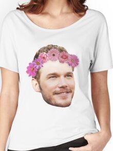 Chris Pratt Flower Crown Women's Relaxed Fit T-Shirt