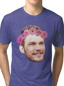 Chris Pratt Flower Crown Tri-blend T-Shirt