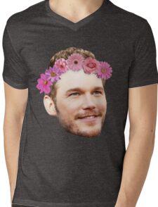 Chris Pratt Flower Crown Mens V-Neck T-Shirt