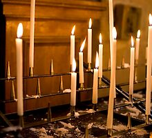 Candles in St Paul Church by Alan LeClair