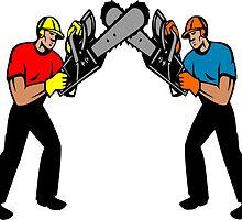 Chainsaw Battle by Grobie
