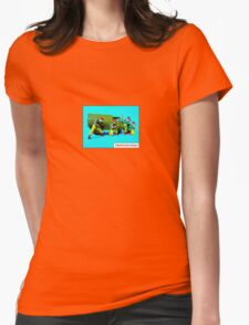 Shoot out at the Drive thru' by Tim Constable Womens Fitted T-Shirt
