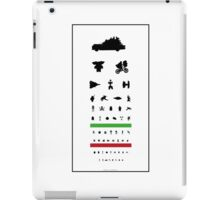 Eye Chart - 80s Movies iPad Case/Skin