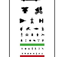 Eye Chart - 80s Movies by twelfthman