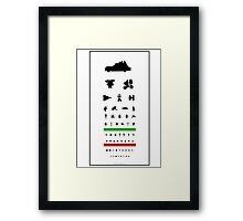 Eye Chart - 80s Movies Framed Print