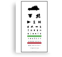 Eye Chart - 80s Movies Canvas Print