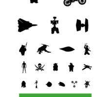 Eye Chart - 80s Movies Sticker
