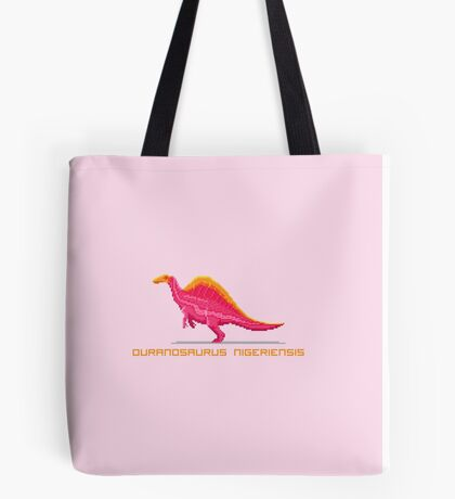 Pixel Ouranosaurus Tote Bag