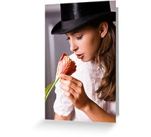 Woman with flower Greeting Card
