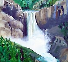 Lower Falls in Yellowstone Natl. Park by mark rehburg