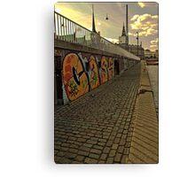 Graffiti in Copenhagen by Tim Constable Canvas Print