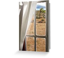 View from Casa Museo Jose Lively- Estancia Maipu- Patagonia Greeting Card