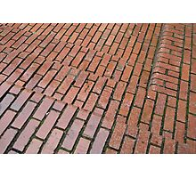 Brick Steps Down Photographic Print