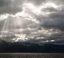 Beagle channel sky- Patagonia by David Chesluk