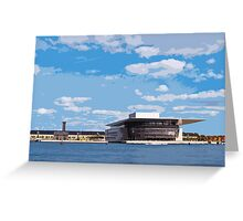 View of Copenhagen Opera House, by Tim Constable Greeting Card