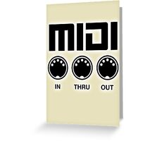 Midi Black Greeting Card