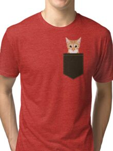 Chase - Cute Orange Tabby cat gifts for cat lady cat lovers pet owner gifts cell phone with cute cat Tri-blend T-Shirt