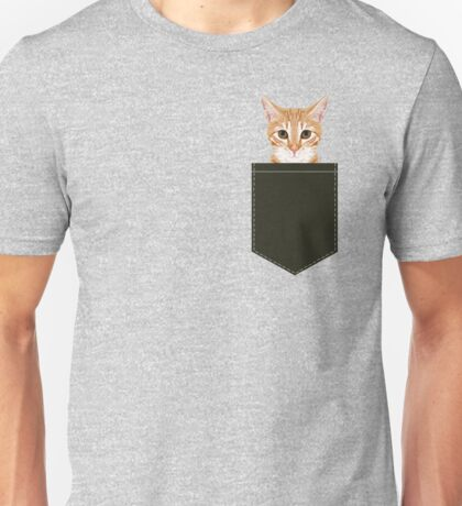 Chase - Cute Orange Tabby cat gifts for cat lady cat lovers pet owner gifts cell phone with cute cat Unisex T-Shirt