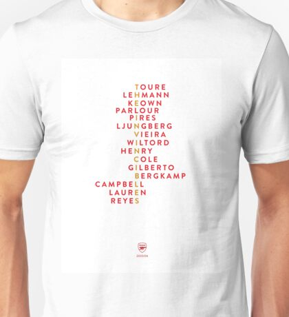 Arsenal Invincibles Unisex T-Shirt
