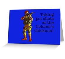 Taking pot shots! Greeting Card