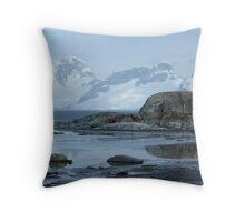 Antarctica Reflection Throw Pillow