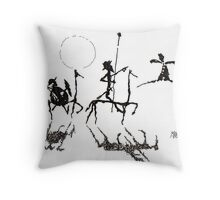 Don Quijote y Sancho Panza Throw Pillow