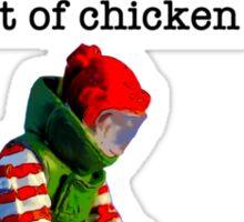 Ronnie diffuses a suspect chicken basket Sticker
