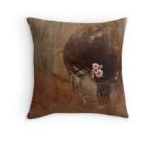 """and then she was broken"" Throw Pillow"