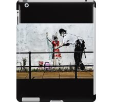 Banksy- Stop and search iPad Case/Skin