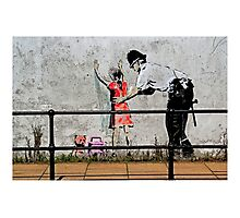 Banksy- Stop and search Photographic Print