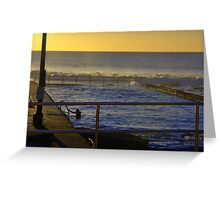 Early morning swim. Austinmer Greeting Card