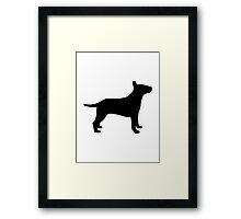 Bull terrier dog Framed Print