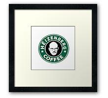 Heizenberg Starbucks coffee Framed Print