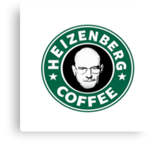 Heizenberg Starbucks coffee Canvas Print