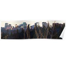 Edmonton Skyline Panorama Poster