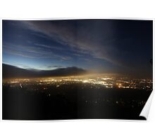 View of Eastern Suburbs From Below Channel 10 Towers Poster