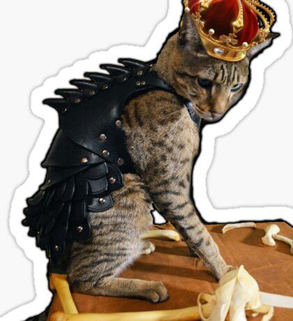 Dragon Slayer King Cat Sticker