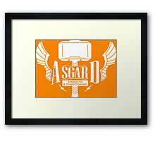 Thor - Asgard Strength & Conditioning - White Framed Print