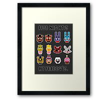 Five Nights at Freddy's. Framed Print