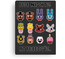 Five Nights at Freddy's. Canvas Print