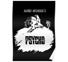 Alfred Hitchcock's Psycho by Burro! (black tee version) Poster