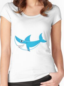 Great White Shark 4 Women's Fitted Scoop T-Shirt